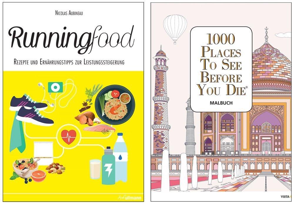 Buchpaket 2: Runningfood + 1000 Places-Malbuch