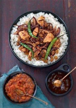 Scharfes Hühnercurry Madras