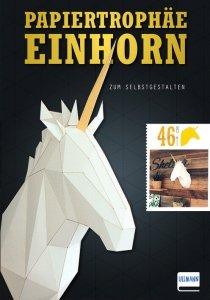 Papiertrophäe Einhorn