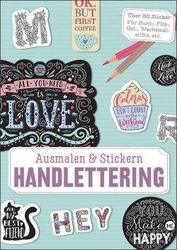 Ausmalen und Stickern: Handlettering