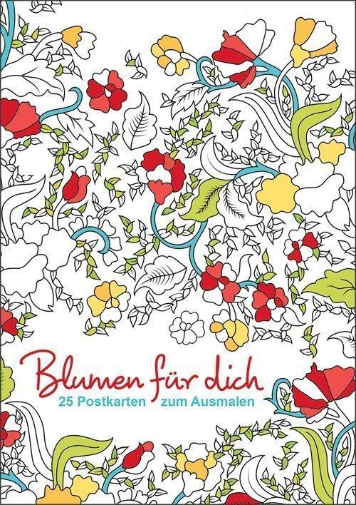 Postkarten zum Ausmalen - Blumen für dich - Buch online kaufen ...