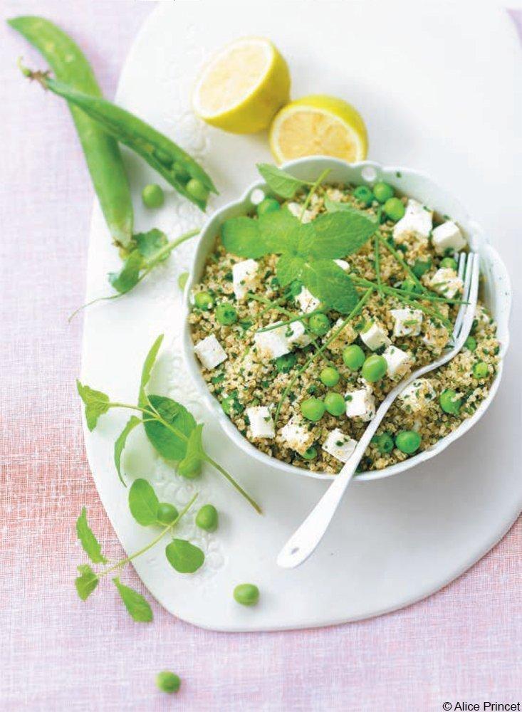 Quinoa-Taboule mit Erbsen