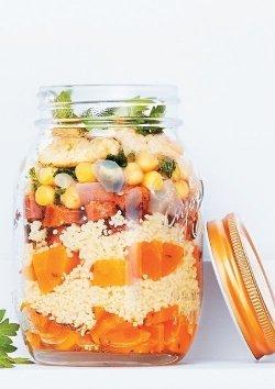 Couscous mit Möhren, Merguez und Kichererbsen