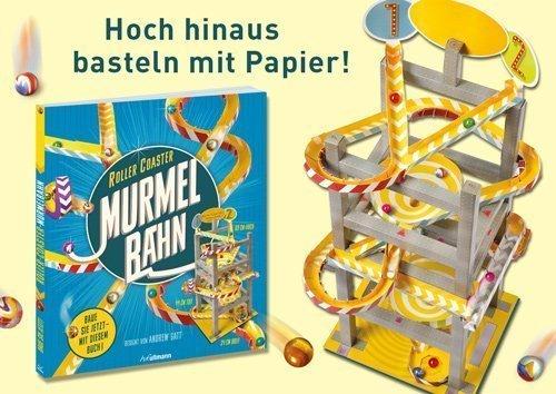 Basteln mit Papier- Murmelbahn Roller Coaster