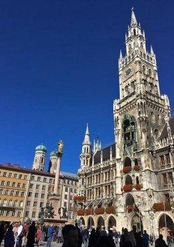 Herbst Spaziergang durch München