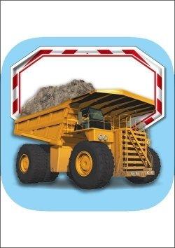 Kinderwissen Bücher mit kostenloser App - Baufahrzeuge