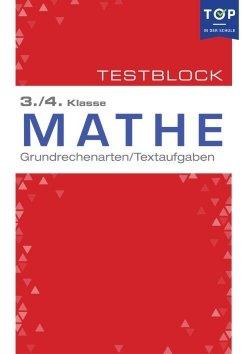 Testmappe: Mathe Grundrechenarten & Textaufgaben, 3.-4. Klasse