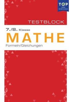 Testmappe: Mathe Formeln & Gleichungen, 7.-8. Klasse