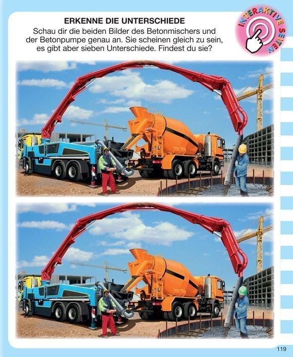 Kinderwissen mit App - Baufahrzeuge