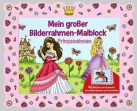 Bilderrahmen-Malblock: Prinzessinnen