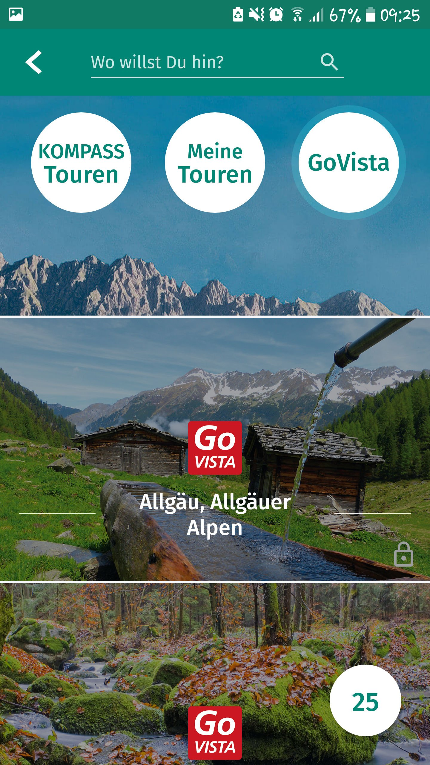Kompass App - Übersicht