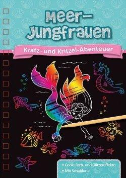 Kratzbuch: Meerjungfrauen