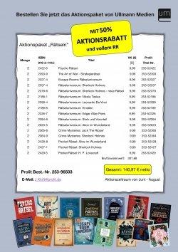 """Aktionspaket """"Rätseln"""" für Buchhändler"""