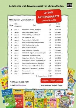 """Aktionspaket """"aktiv & schlau"""" für Buchhändler"""