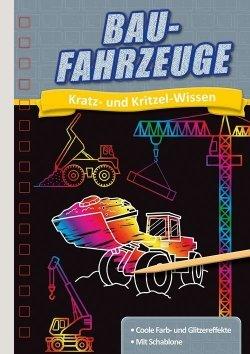 Kratzbuch: Baufahrzeuge